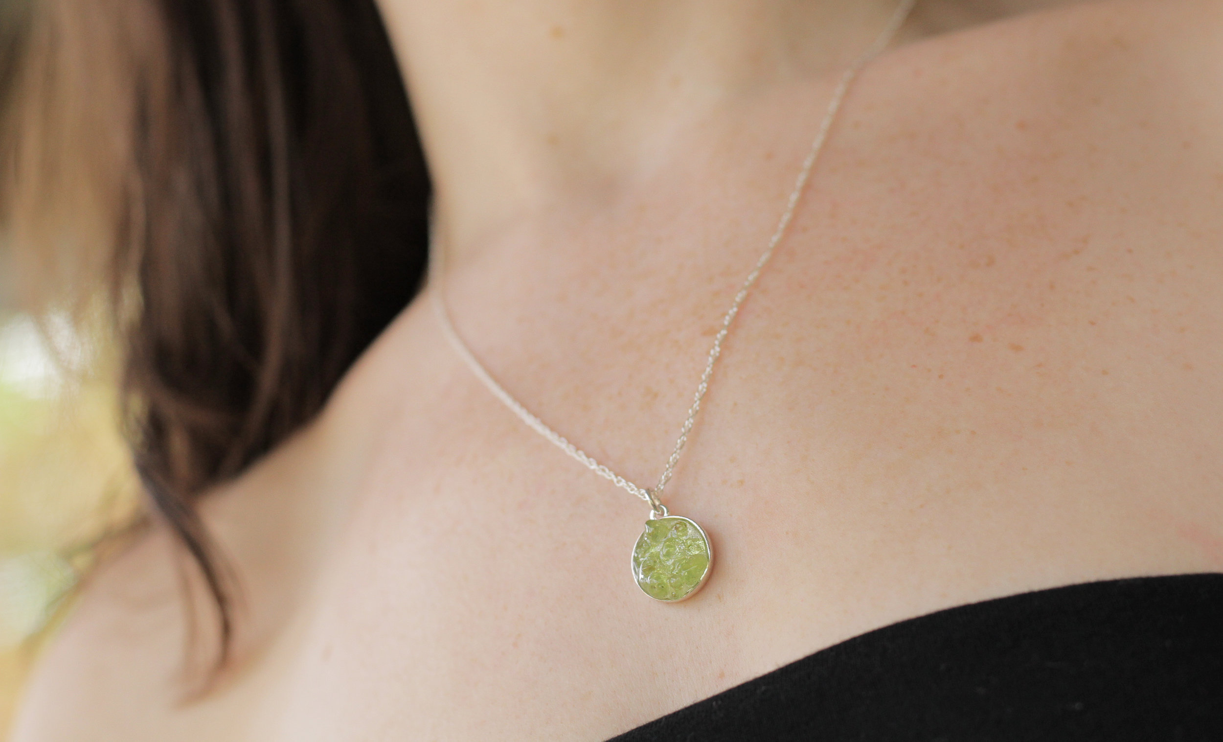 Peridot, the August birthstone, is known for its otherworldly green glow. Find your birthstone in Bang-Up Betty's  birthstone cluster collection , inspired by nature and using raw, rough and chip natural stones.