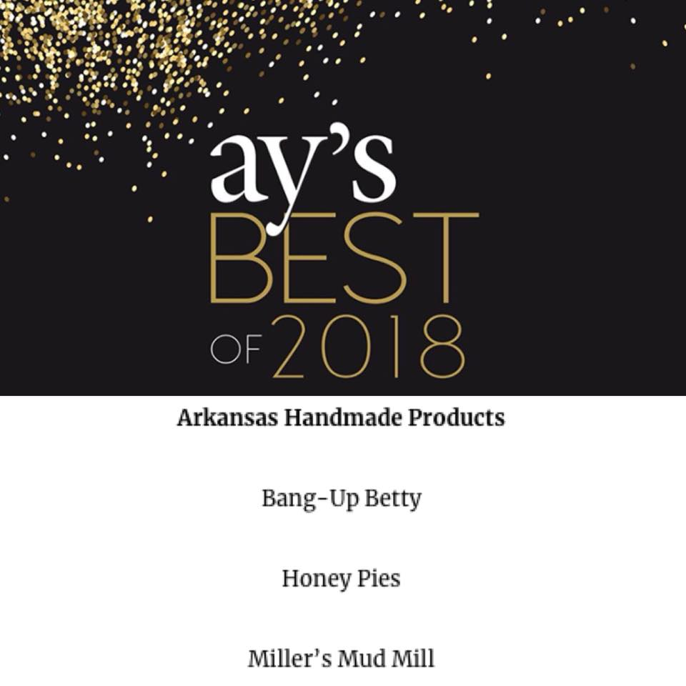 Bang-Up Betty jewelry was voted best in Arkansas Handmade Products by AY Magazine readers.