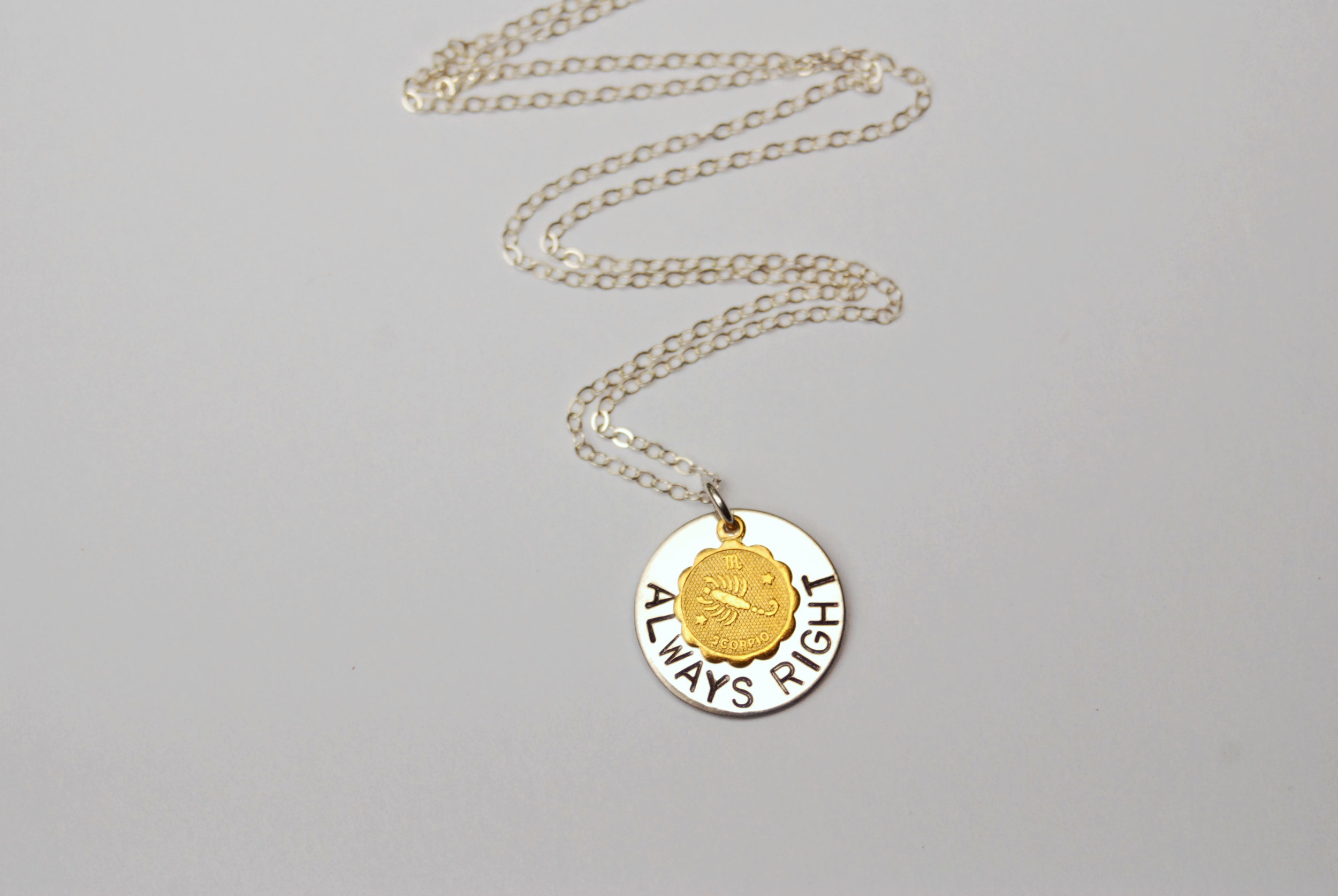 Scorpios are known to be loyal, passionate friends, but don't accuse them of being wrong. Click here to see the entire  zodiac necklace collection .