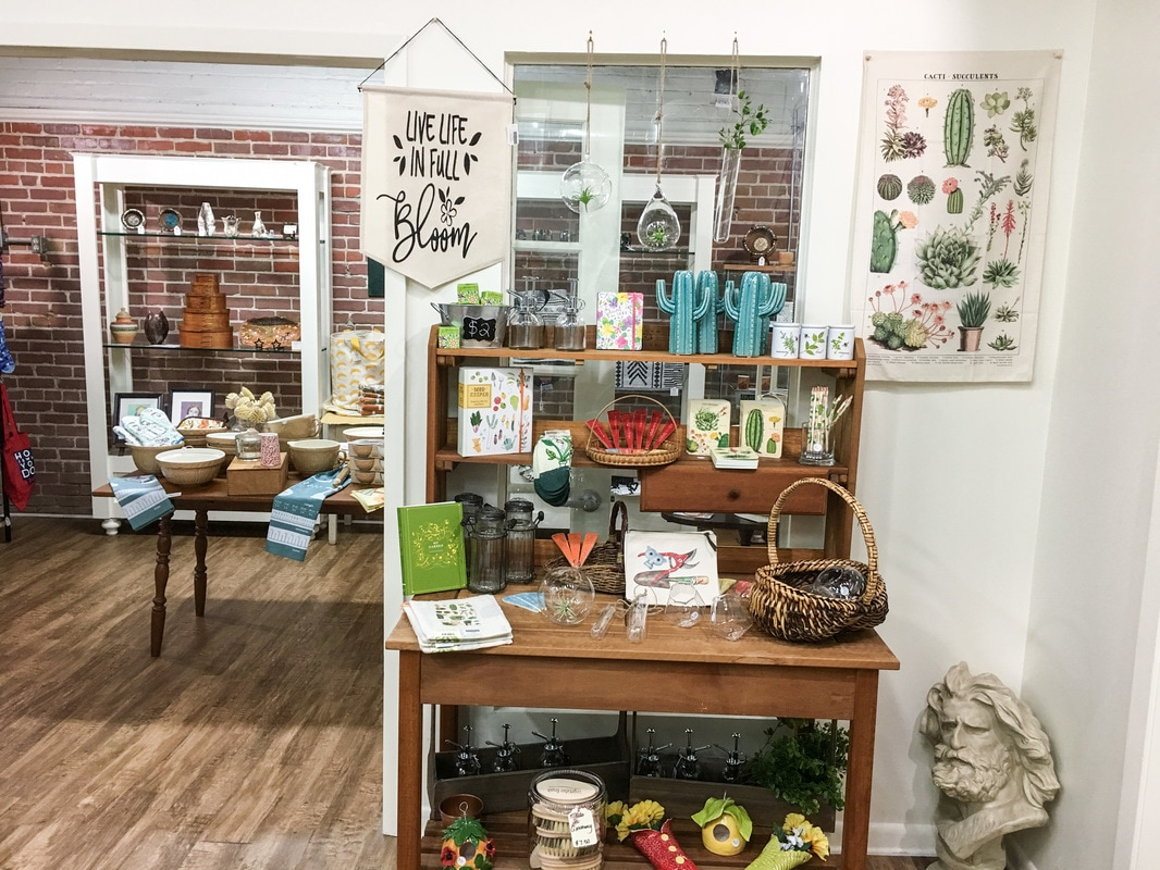 Stifft Station Gifts offers a bountiful selection of gifts for gardeners, cooks, crafters, nature-lovers, dog and cat parents and more in Little Rock's historic Stifft Station neighborhood.