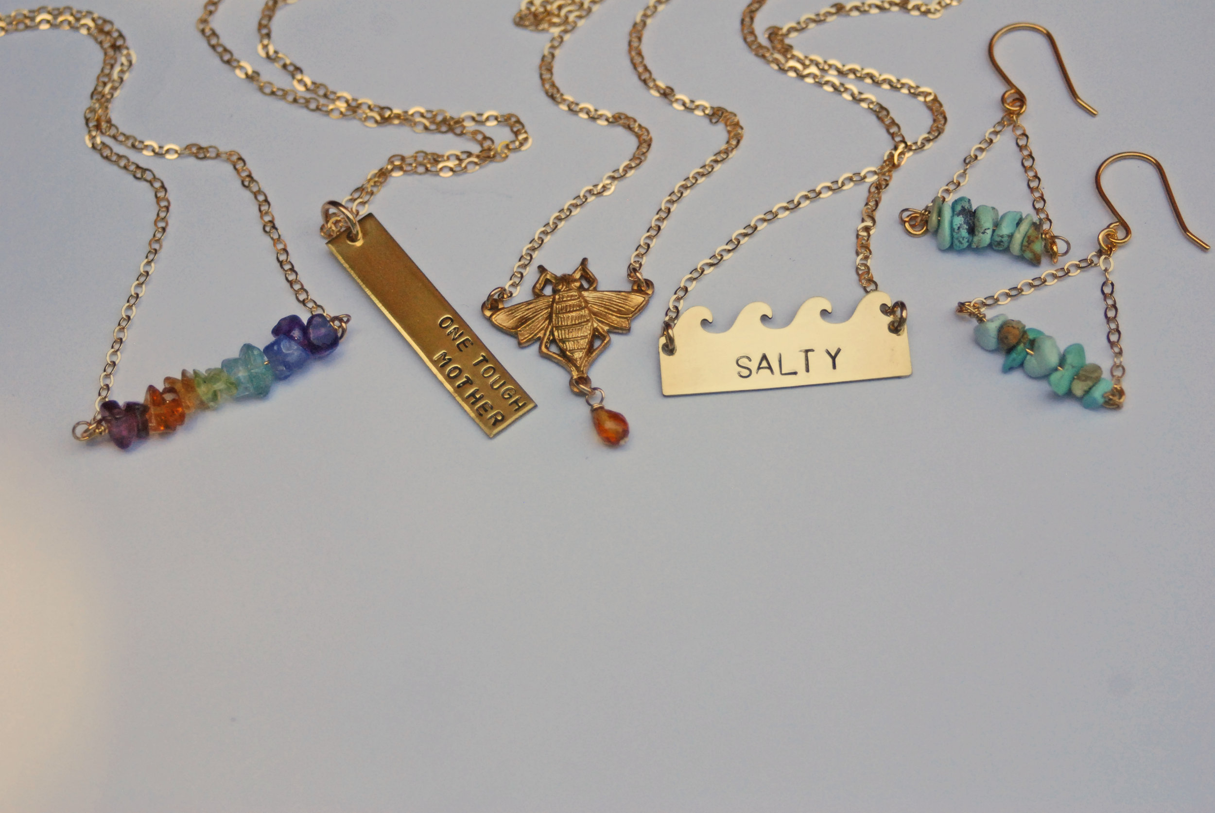 Bang-Up Betty is subversive and sweet hand-stamped jewelry made in Little Rock, Arkansas. Starting in September, you can shop Bang-Up Betty at Stifft Station Gifts and have custom jewelry made while you shop.