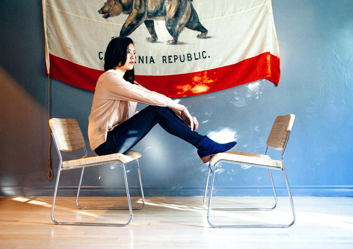 Inside the Rancho Inn house, Sarah accompanies our Rups chairs. Photo: PUNODOSTRES Styling: J Fraiche