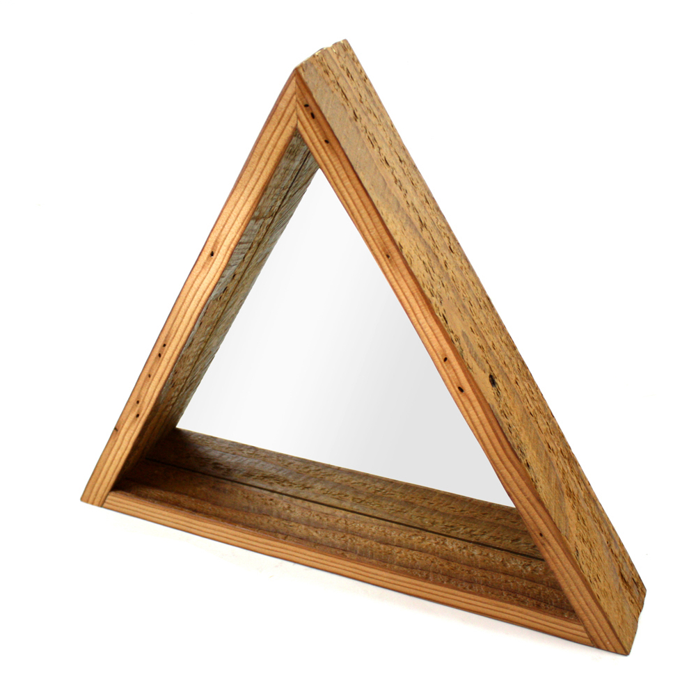 """""""Troika"""" mirror (reclaimed wood) by M.F.E.O."""
