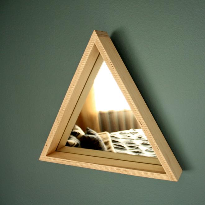 Troika mirror (maple ply) by M.F.E.O.