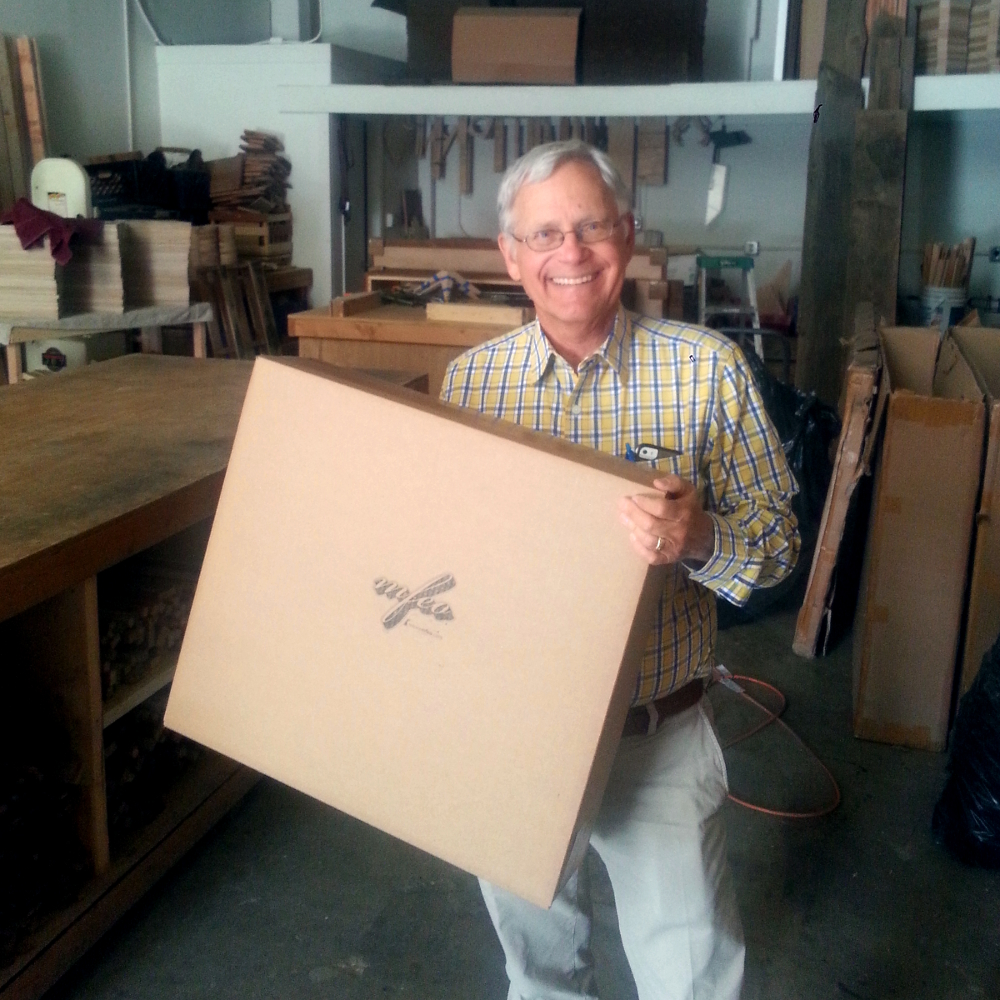 Richard from Acorn Paper stops by the studio
