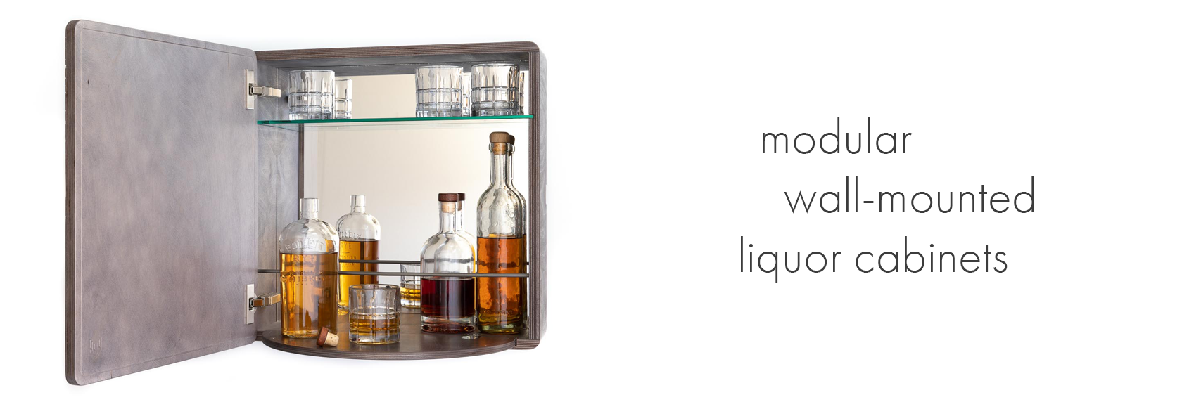 KARVD Wall-Mounted Liquor Bar Cabinet