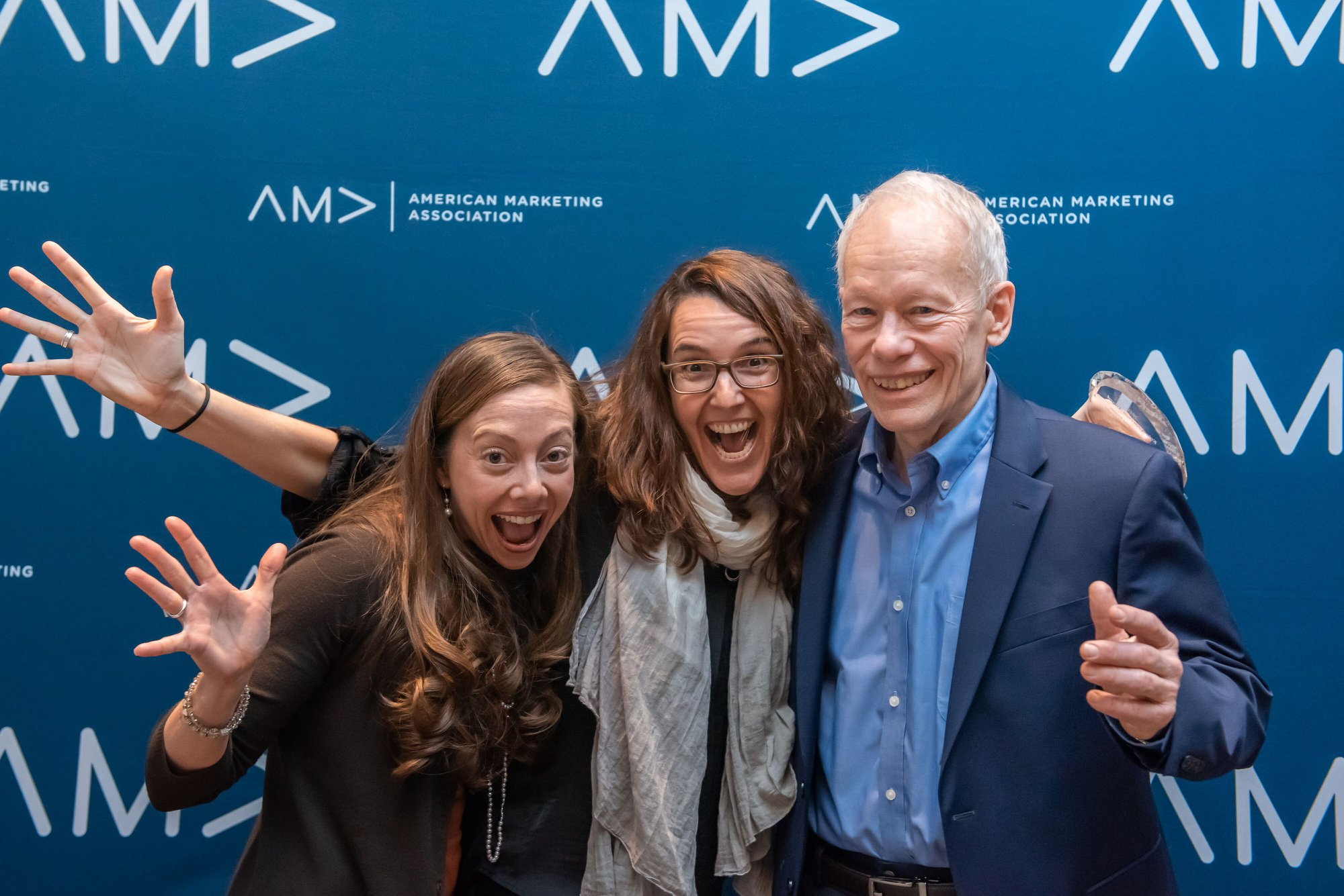 From left to right: Andrea Morales Ketcham, Eva Ascarza, and Don Lehmann at Winter AMA 2019