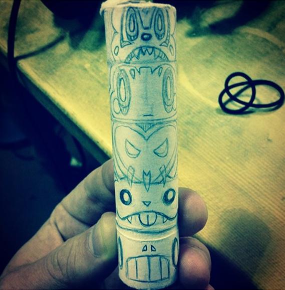 Totem Roll Design Sketch
