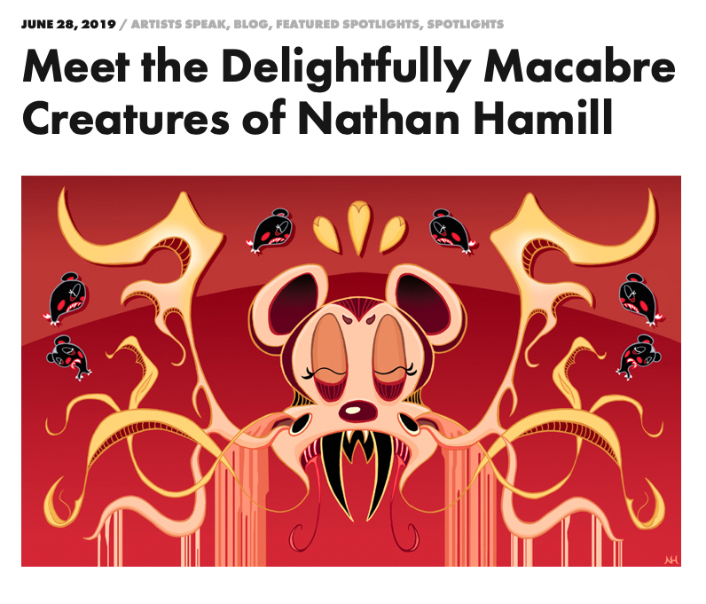 Meet the Delightfully Macabre Creatures of Nathan Hamill    LAVAWEAR