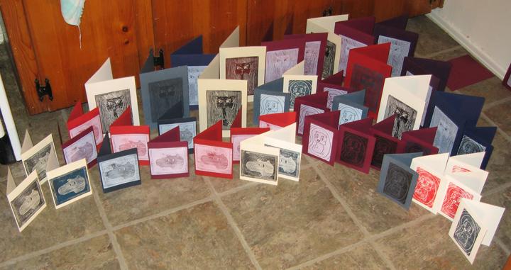 Block Print Cards