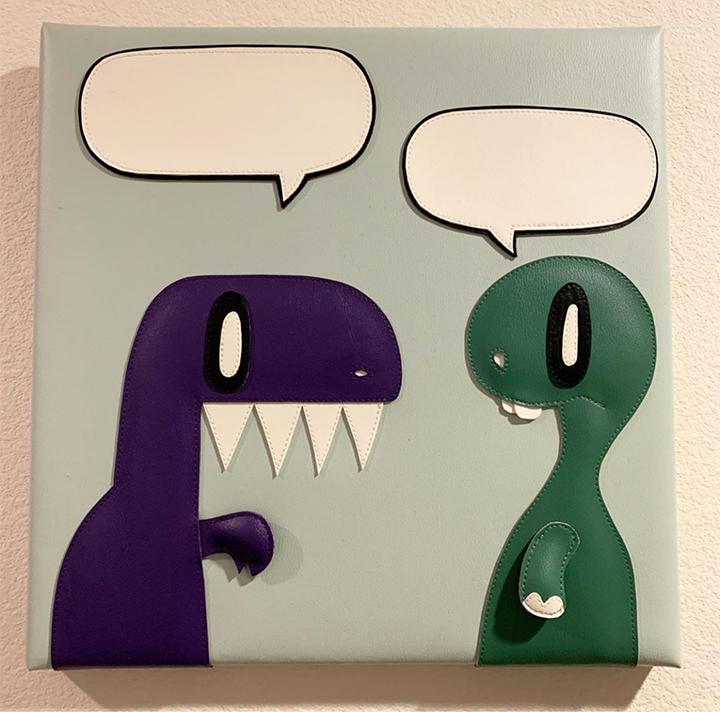 2 Dumb Dinos Wall Art