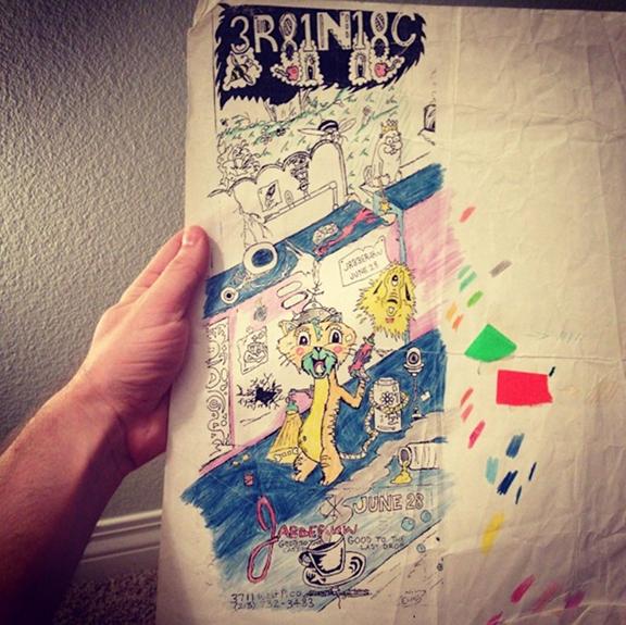 Unused Brainiac Flyer Rough