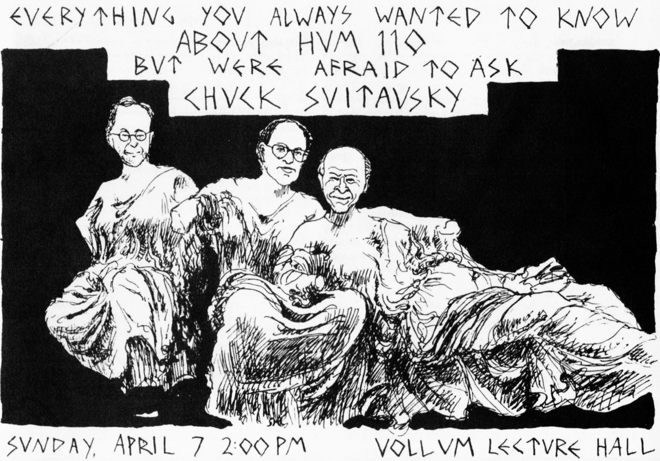 Poster from 1997 HumPlay, published in the March 2010 issue of  Reed Magazine . Courtesy of Special Collections, Eric V. Hauser Memorial Library, Reed College.