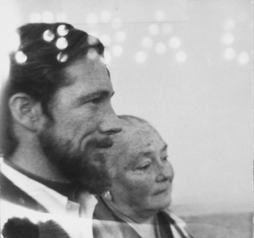 Gary Snyder and Lois Snyder Hennessy, circa 1998. Photo courtesy of Special Collections, Eric V. Hauser Memorial Library, Reed College.