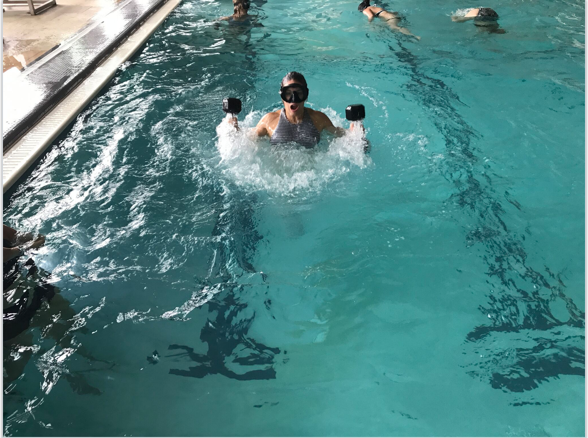 Pool training at XPT Montauk workout fitness
