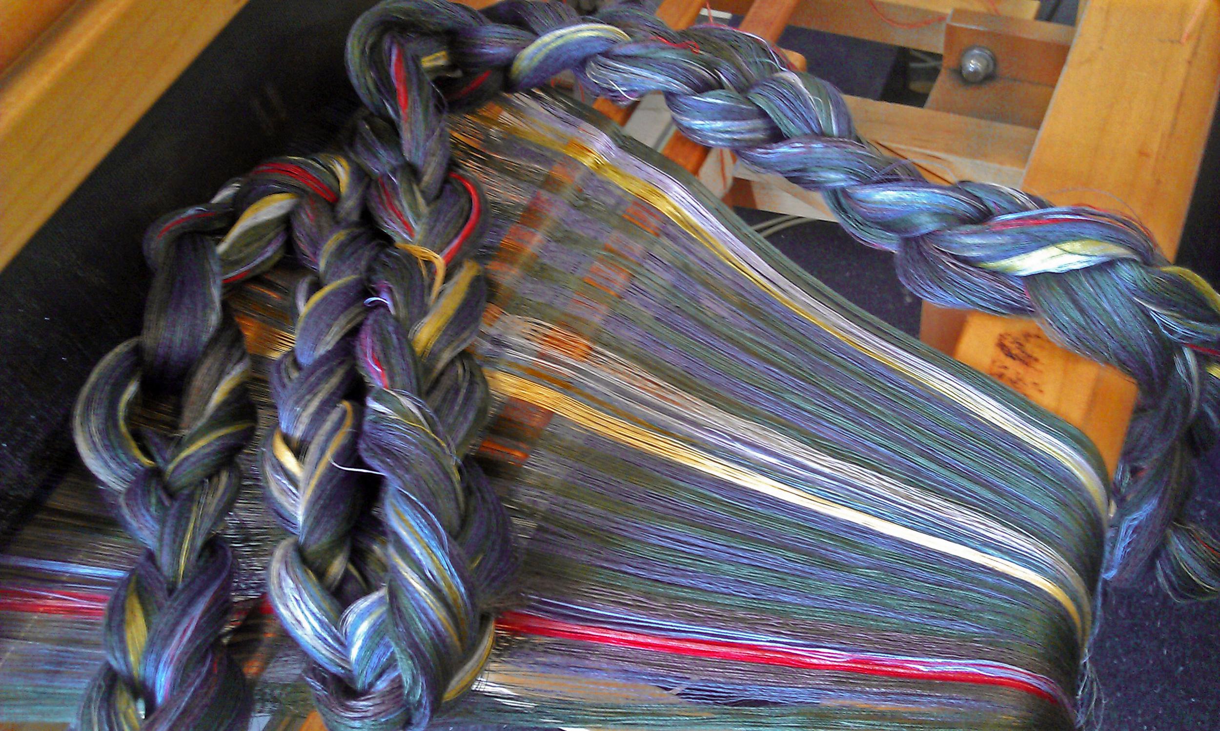 weaving-warp-on-handloom-silk-and-linen-threads-irish-nature-spiritual-song