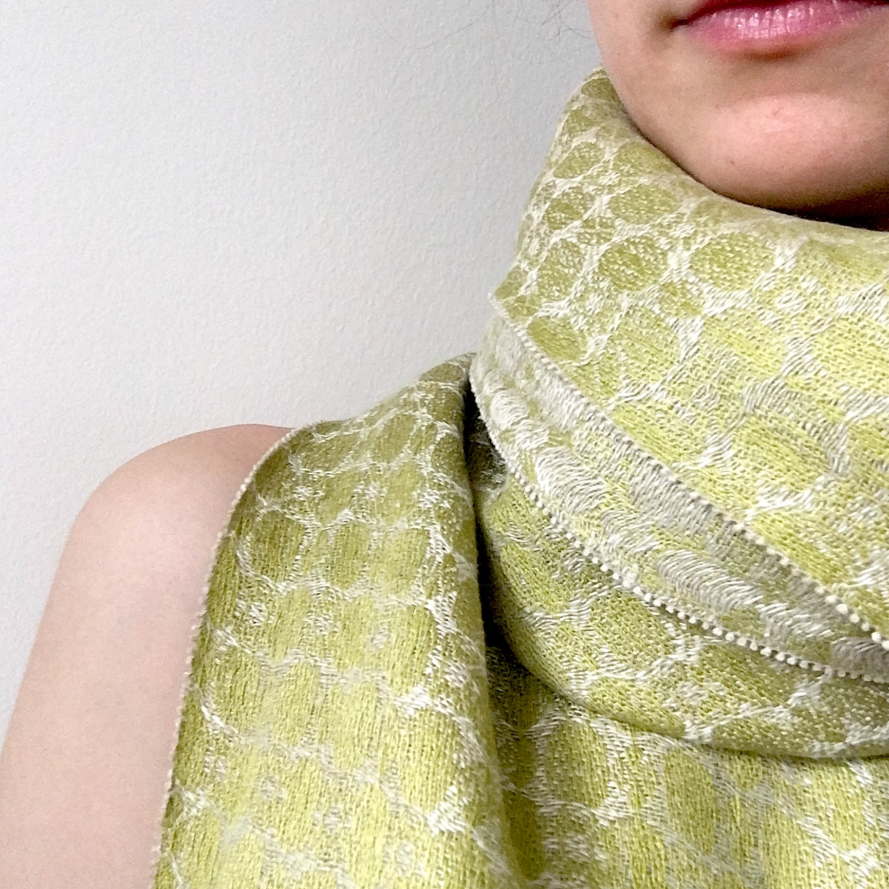 Sanctum Cocoon Green Silk and Linen Shawl
