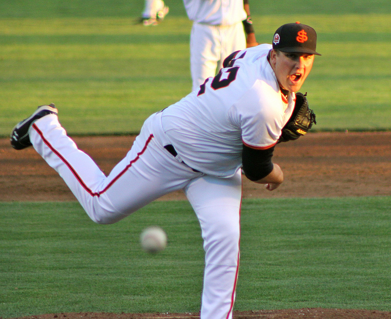 Clayton Blackburn will begin the 2014 season in Richmond with San Francisco's Double-A affiliate. (Conner Penfold / Giant Potential)