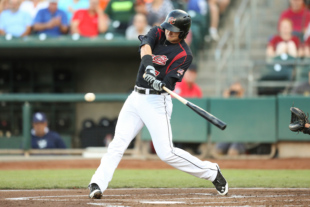 Jarrett Parker, between two stints with the major league club, tore up Triple-A with a .954 slugging percentage in 73 minor league plate appearances. (Tim Cattera/MiLB.com)