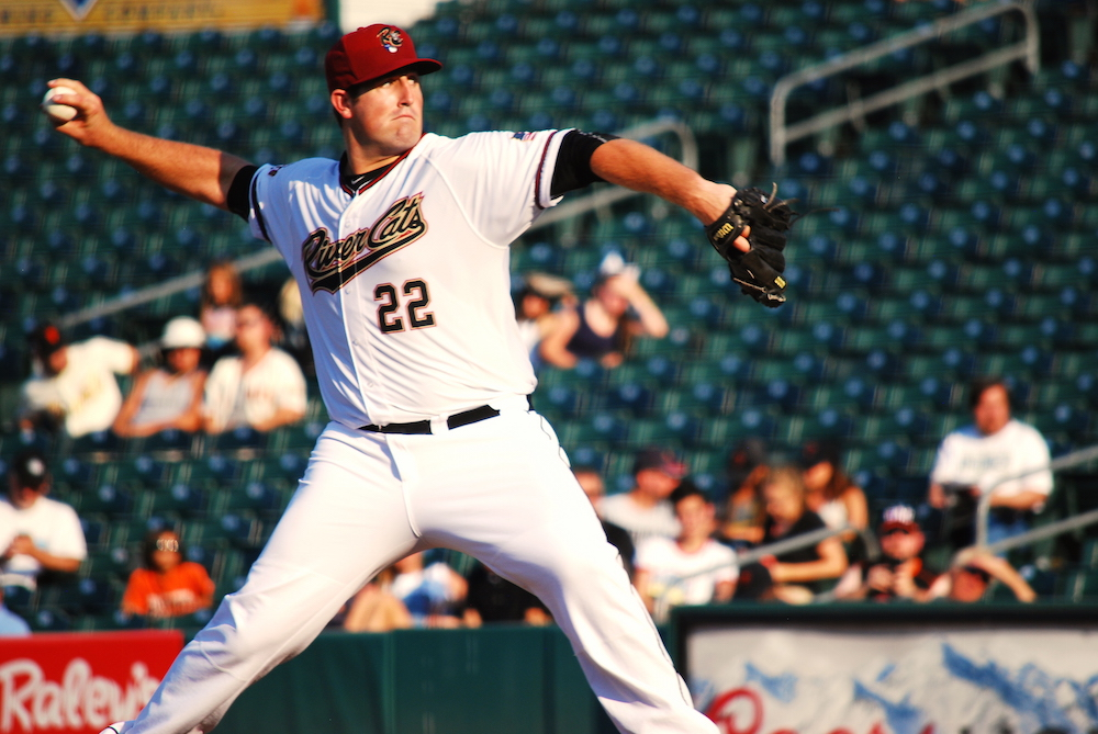 Dan Slania pitched seven solid innings while allowing just three baserunners in his Sacramento River Cats debut. (Conner Penfold/Giant Potential)