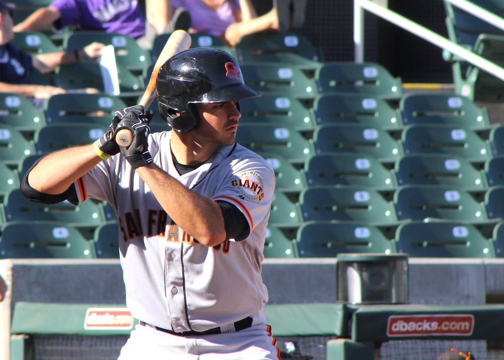 Aramis Garcia received much-needed playing time in the Arizona Fall League, playing with six other Giants' prospects for the Scottsdale Scorpions. (Conner Penfold/Giant Potential)