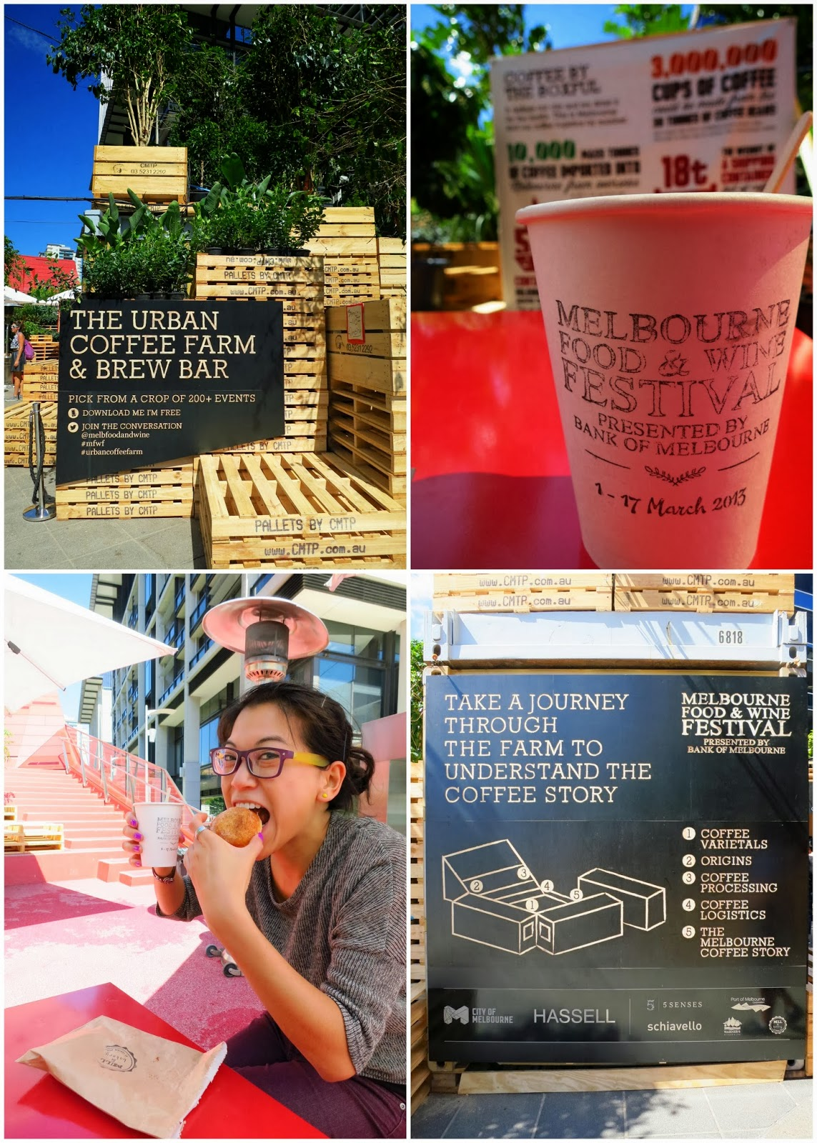 The pop-up Urban Coffee Farm at the Melbourne Food & Wine Festival