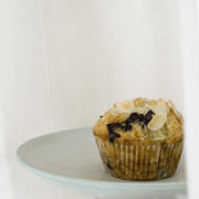 Muffiny z gruszką i ciemną czekoladą