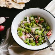 Libańska sałatka z bobu