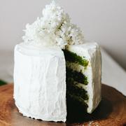 Cytrusowe ciasto szpinakowe z kremem kokosowym