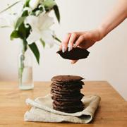 Ciastka czekoladowe z solą morską i karmelem