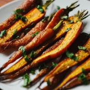 Pieczone marchewki z za'atarem