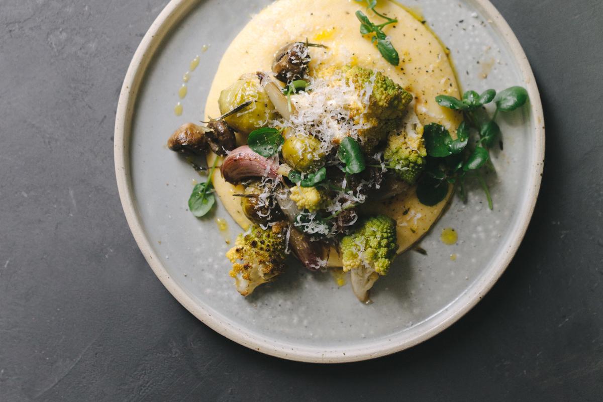 polenta z pieczonymi warzywami