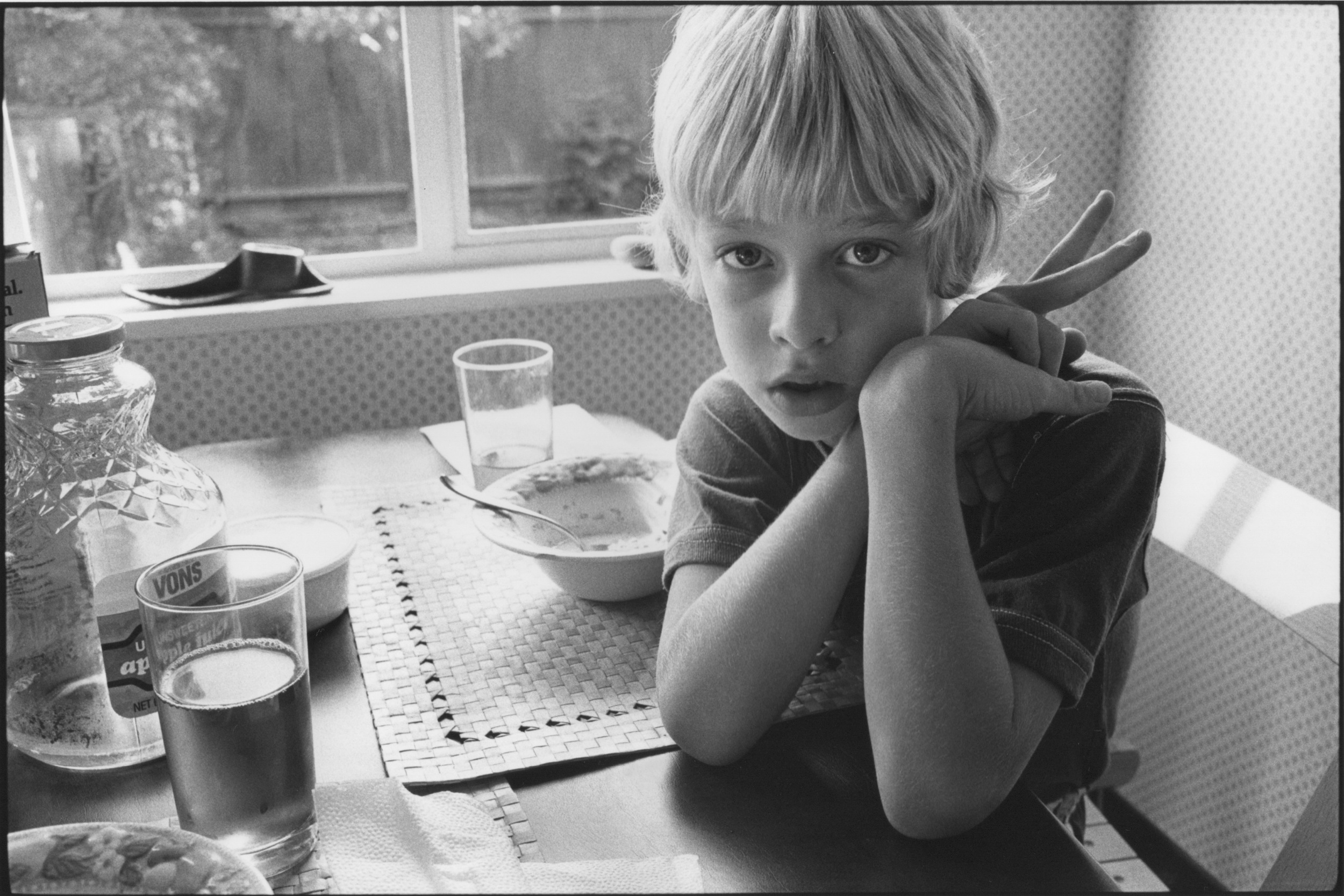 """Lindsay at Breakfast, 1980s"" by Harry Wilson"