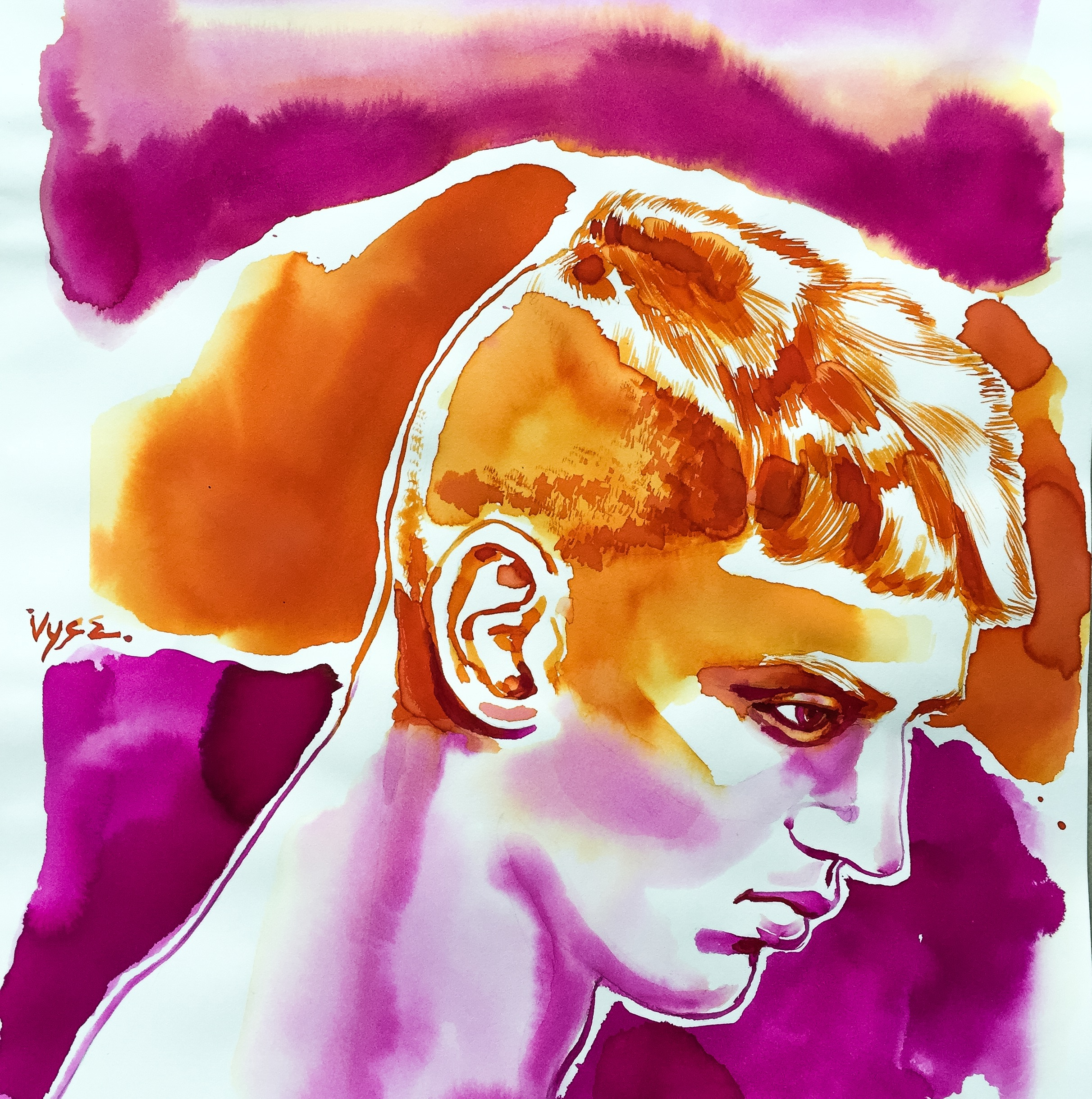 """Man Profiled Imagined"" by Richard Vyse"