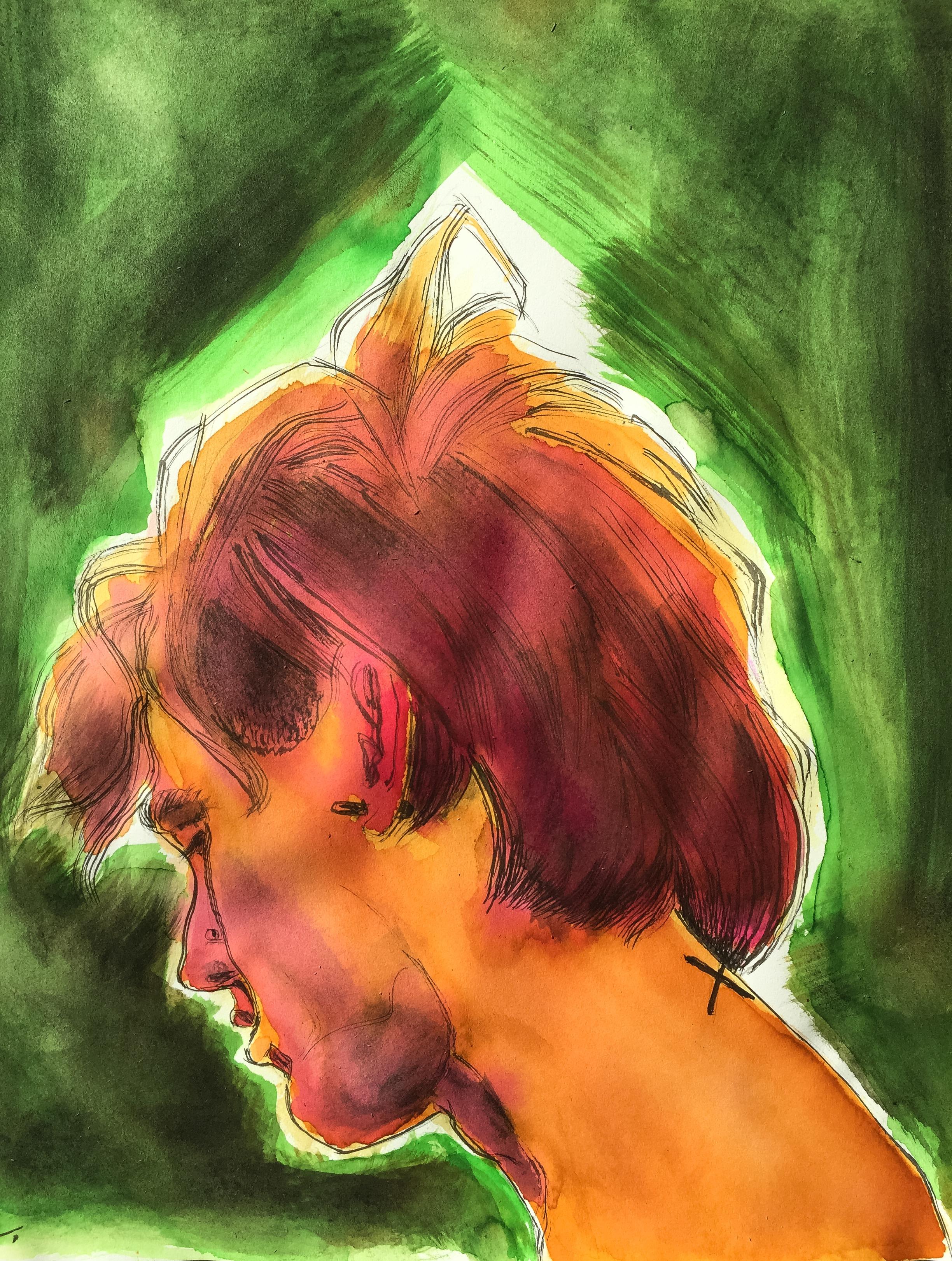 """Man Profiled X"" by Richard Vyse"