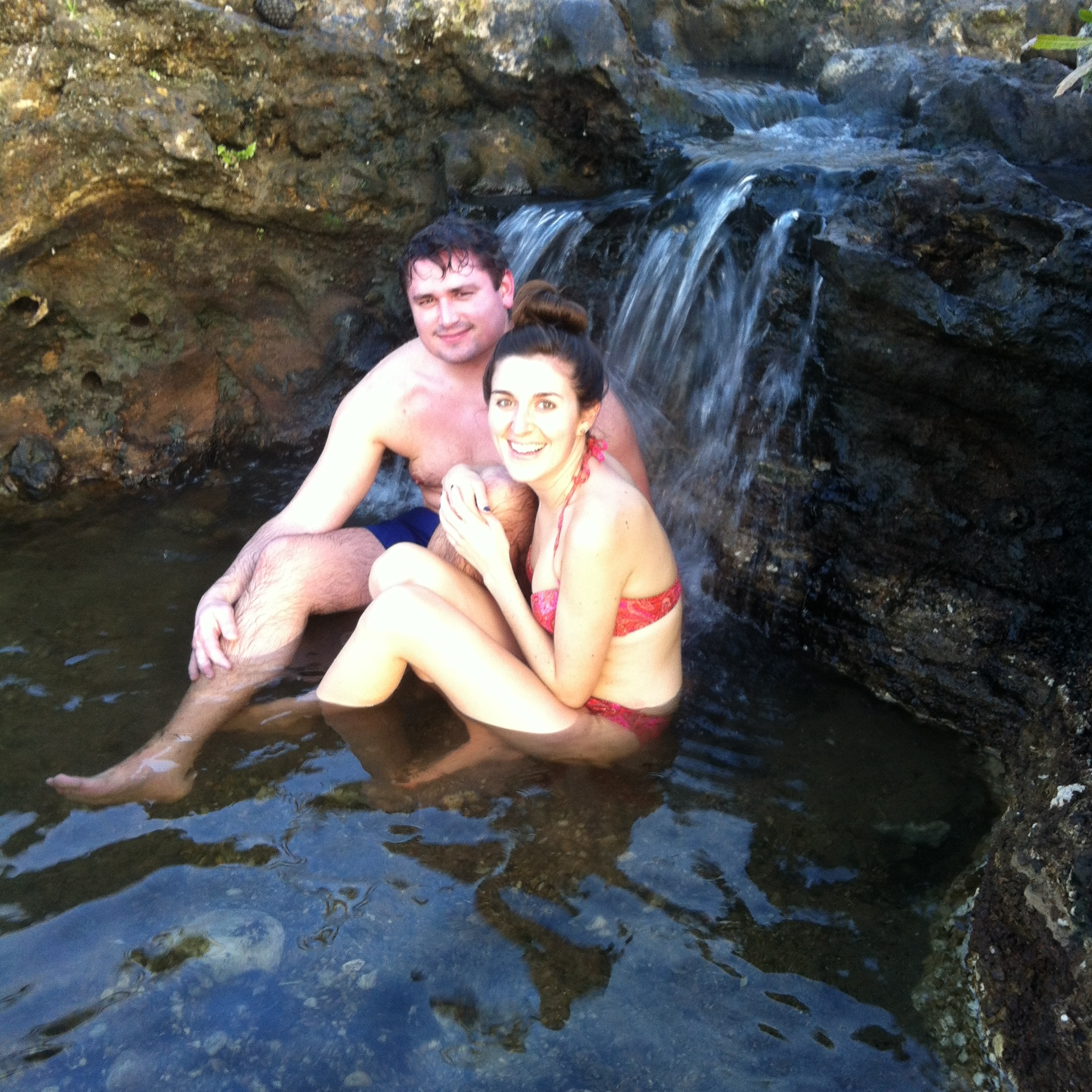 The hot springs were  seriously  hot!! It took me about 10 minutes just to ease my way in.