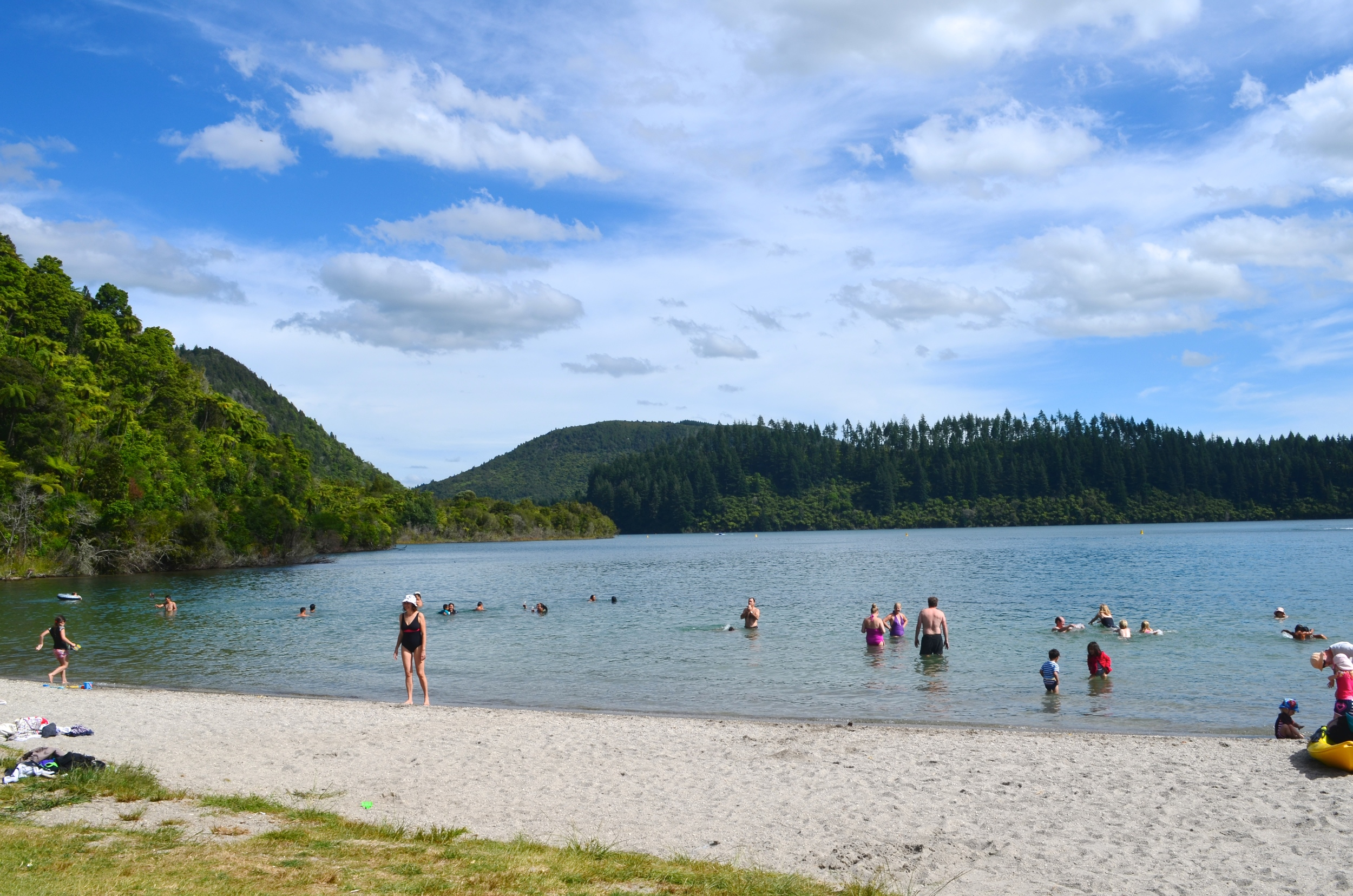 One of the most beautiful days on Blue Lake in Roturua.