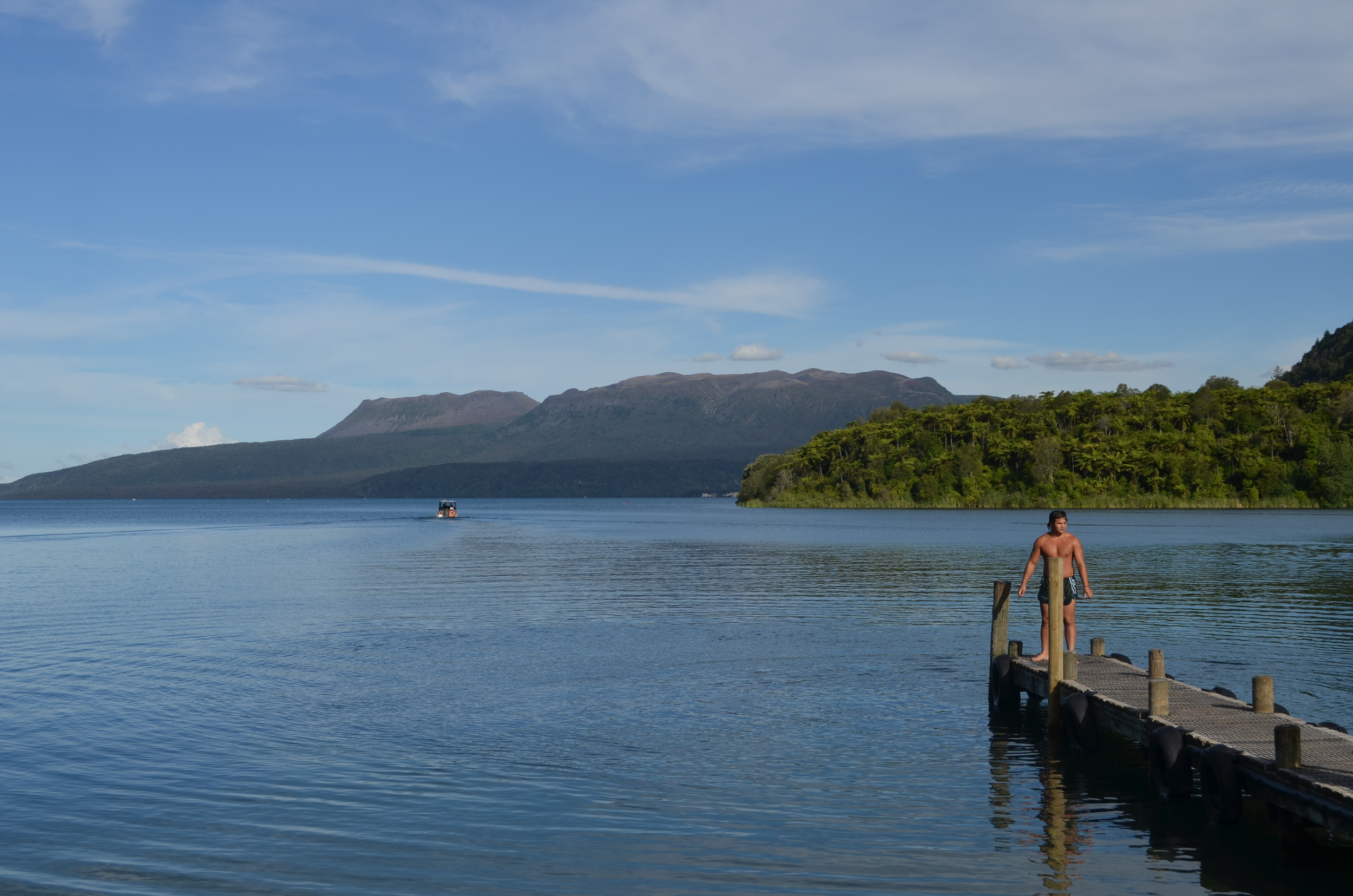 View of Mt. Tarawera, which destroyed the Pink and White Terraces - the Eighth Wonder of the World