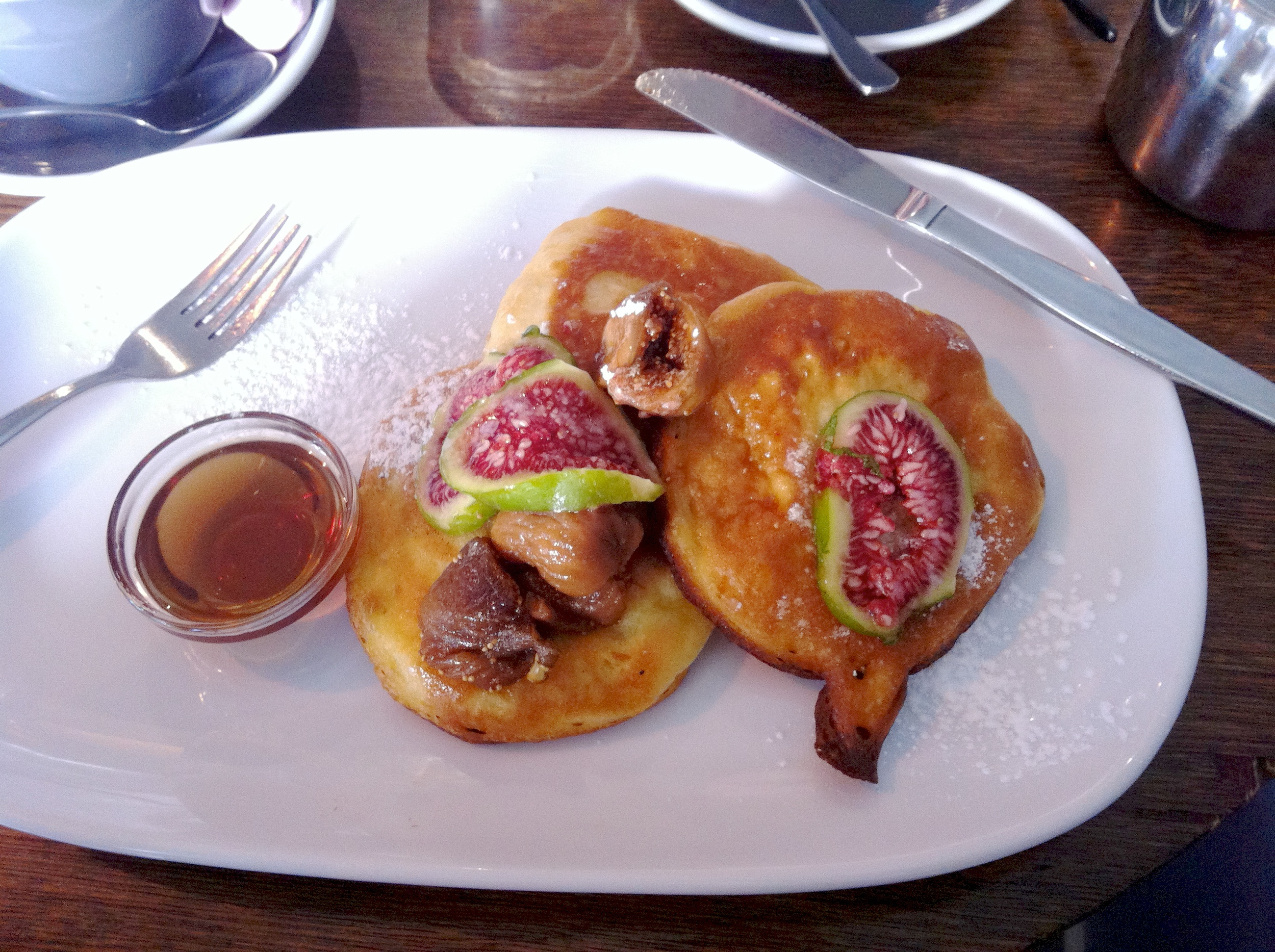 Pancakes with fresh and caramelized figs at Olive. YUM!