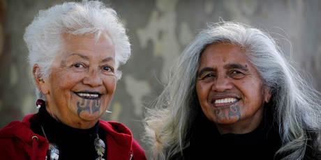 Two Maori women with Ta moko  Source