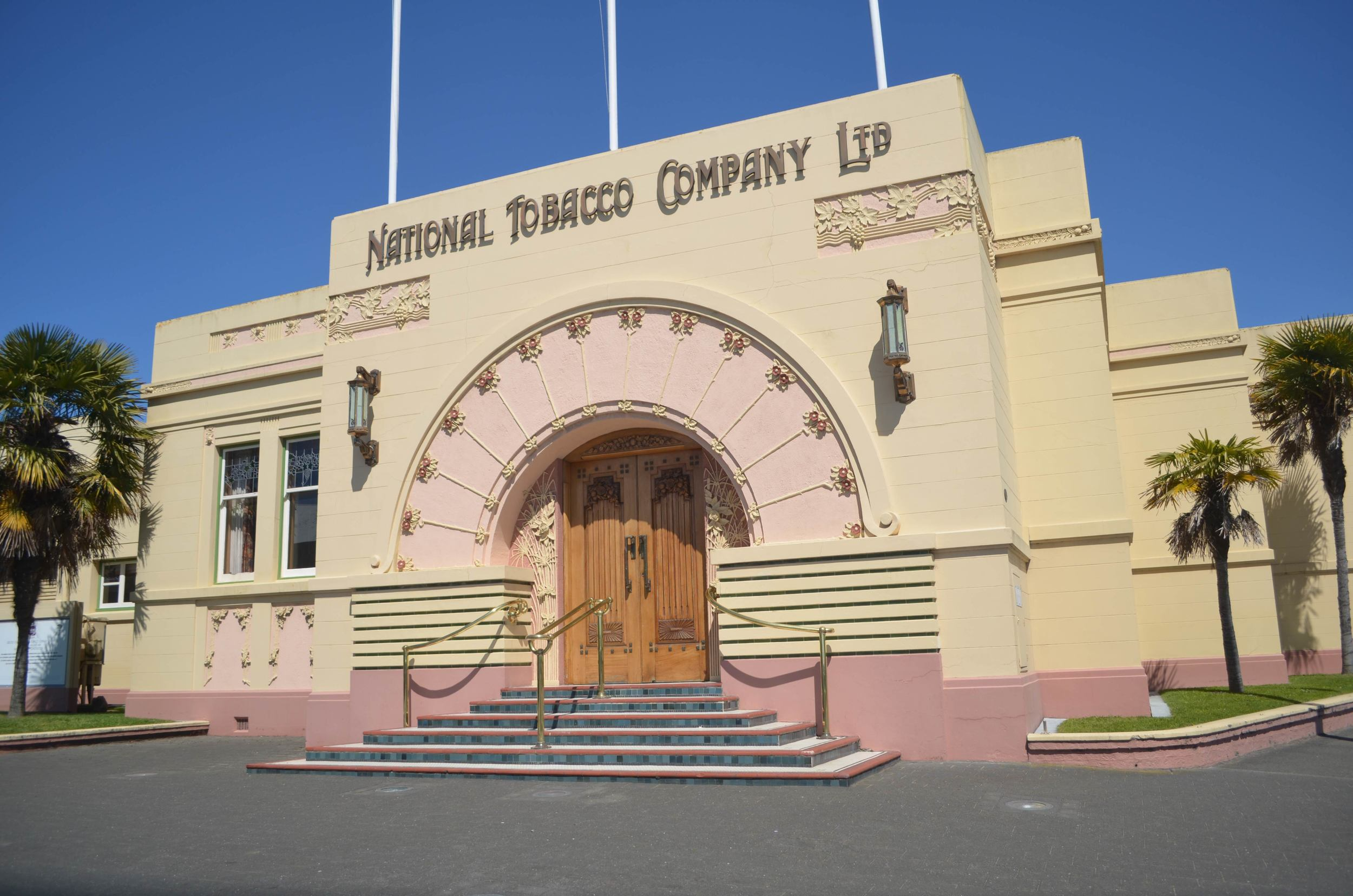 Rebuilt in Art Deco style after the 1931 Earthquake, The National Tobacco Company building is one of the most photographed buildings in New Zealand.