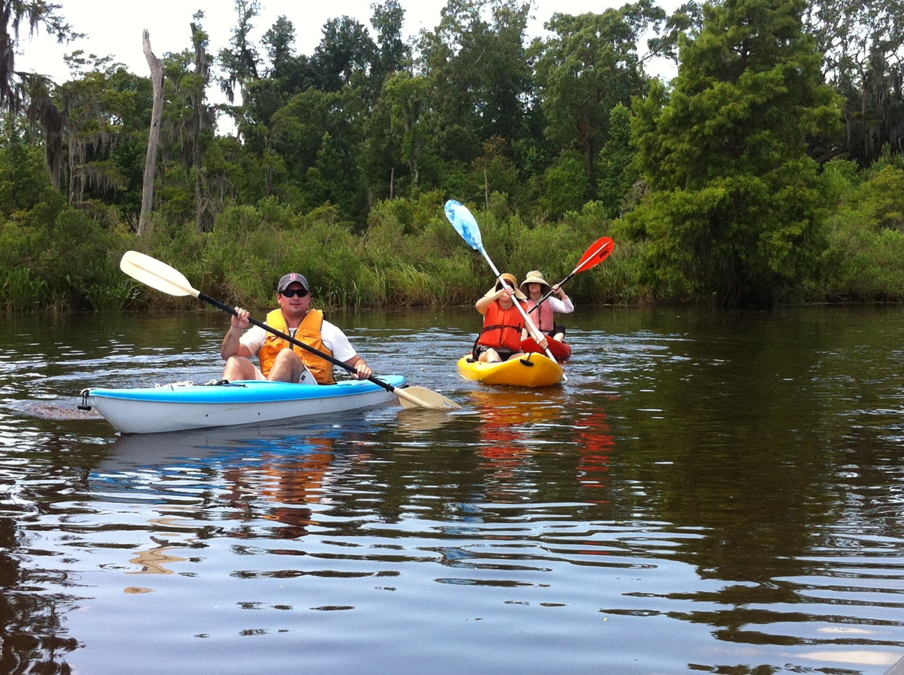 Chasing alligators on our family kayak trip to FontainebleauState Park