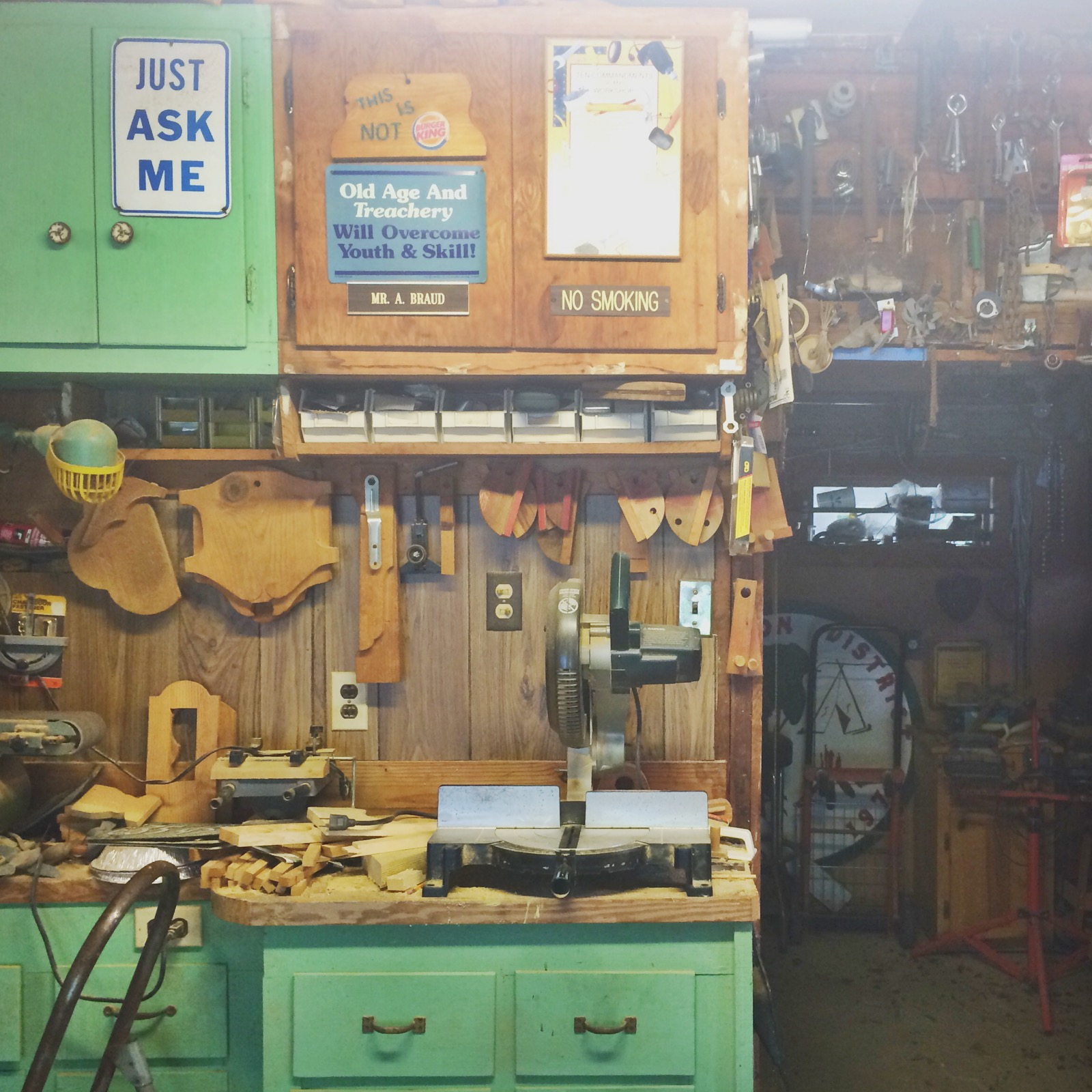 My Grandpa Allen's workshop