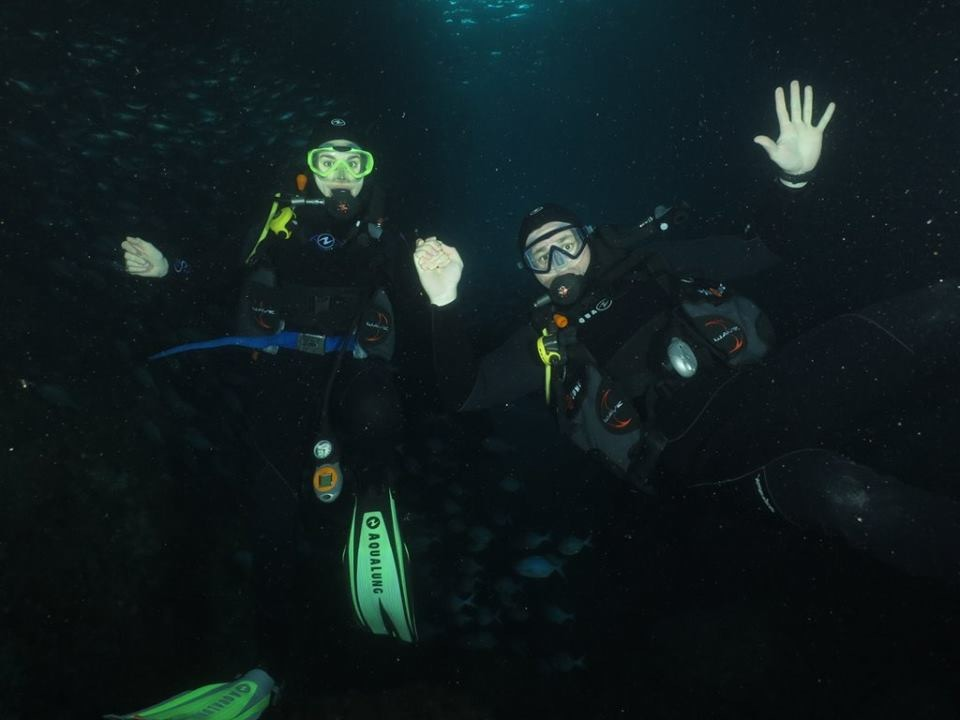 Me and my dive buddy (and life buddy) Joe. This dive marked his one-year Padi certification anniversary!