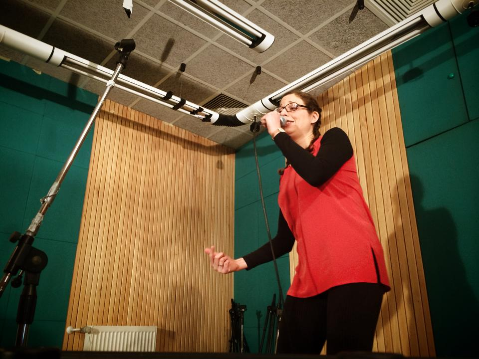 While recording LIVE! for Radio Študent Afterparty in Ljubljana, Slovenia