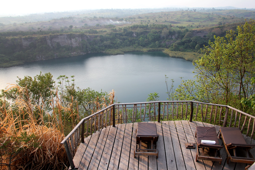 A crater lake near Fort Portal.