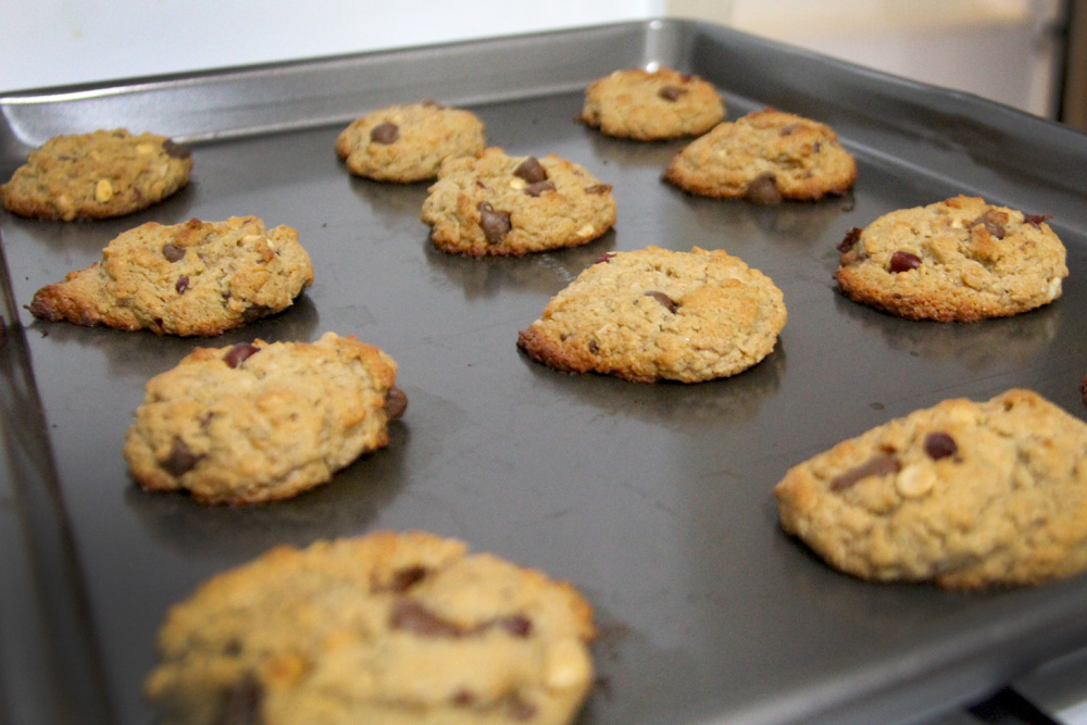 cookies out of the oven