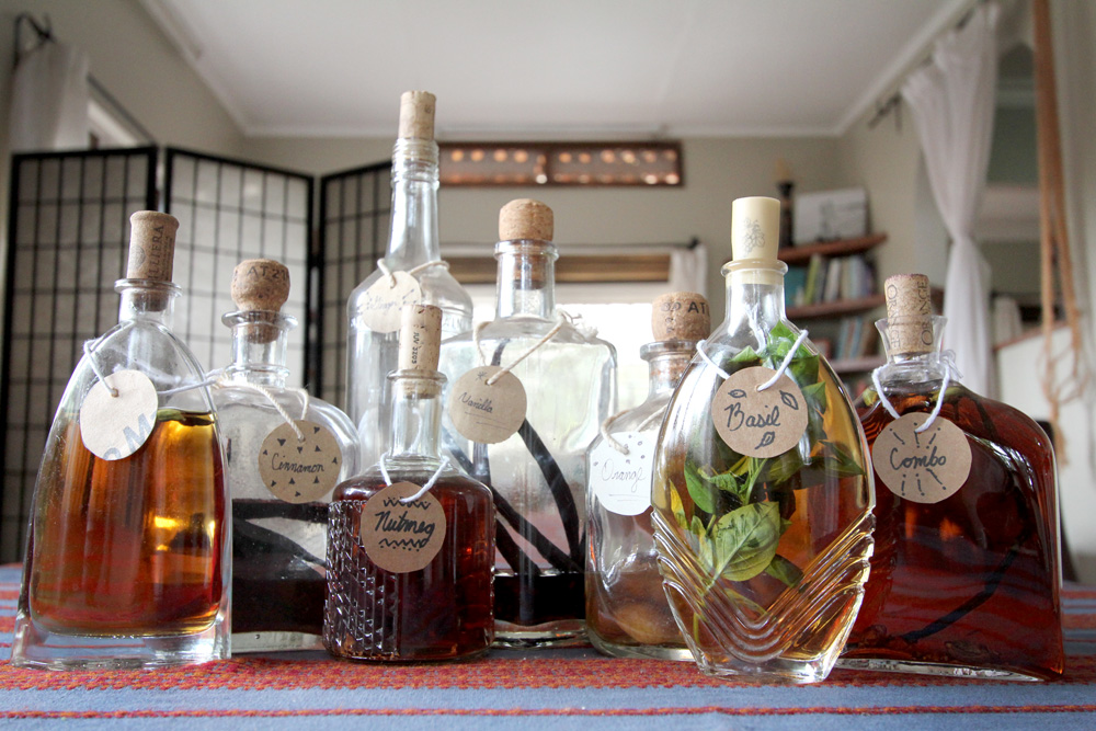 Home-spiced rum