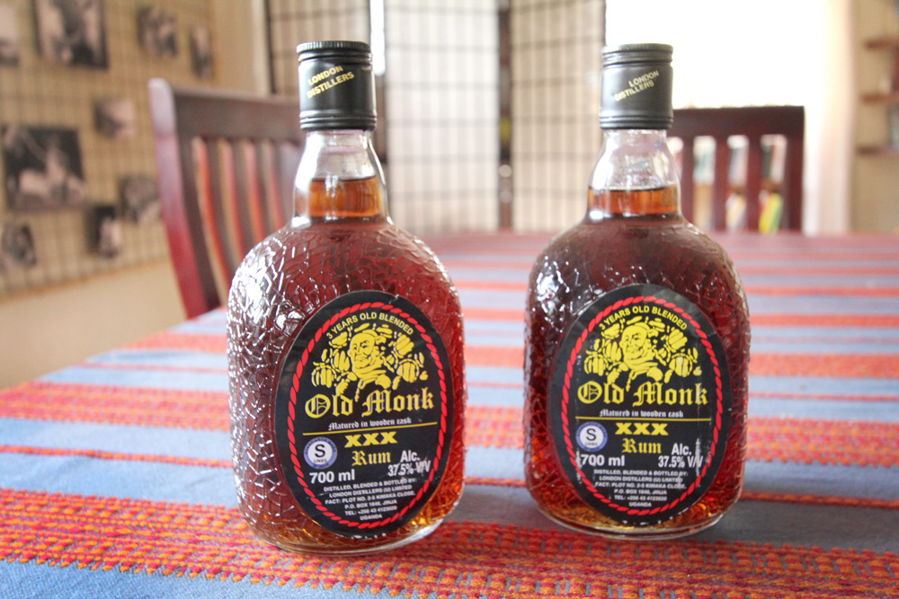 I like to use Old Monk rum as my base, which is one of the best tasting rums available in Uganda for a great price.