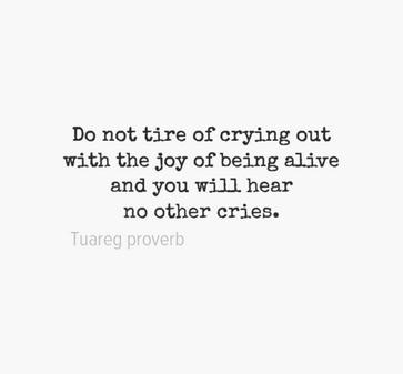 Tuareg proverb